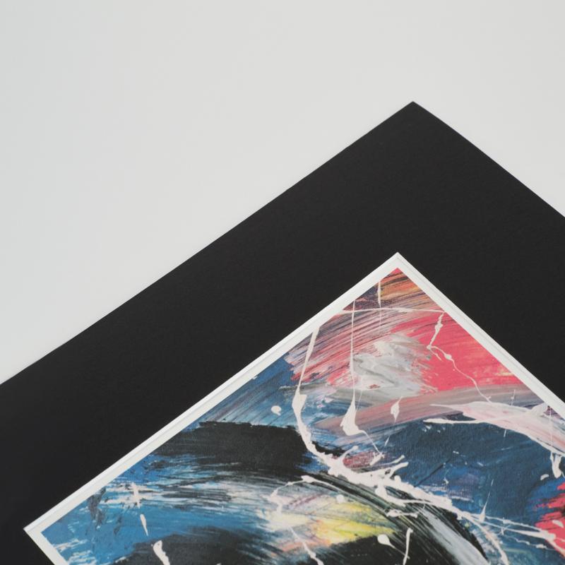 Passepartout - Schwarz mit Weißkern